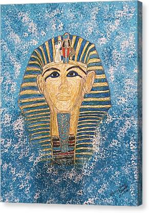 King Tutankhamun Face Mask Canvas Print