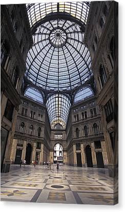 King Umberto I Shopping Arcade Canvas Print by Richard Nowitz