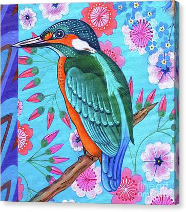 Kingfisher Canvas Print -  Kingfisher by Jane Tattersfield