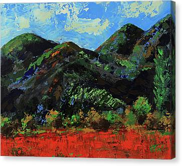 Canvas Print featuring the painting Kings Canyon Fall Colors by Walter Fahmy