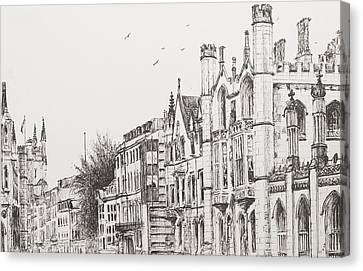 Building Canvas Print - Kings College Cambridge by Vincent Alexander Booth
