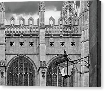 Canvas Print featuring the photograph Kings College Chapel Cambridge Exterior Detail by Gill Billington
