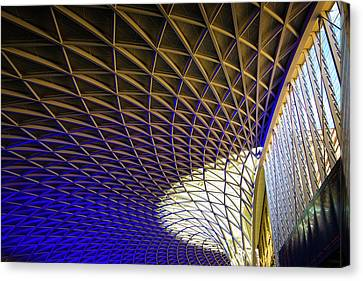 Canvas Print featuring the photograph Kings Cross Railway Station Roof by Matthias Hauser