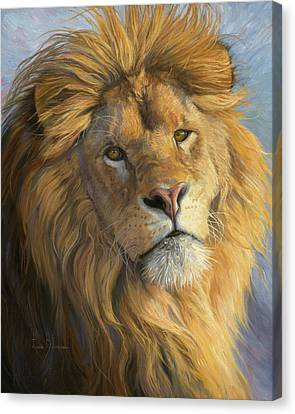 Portraits Of Cats Canvas Print - King's Gaze by Lucie Bilodeau