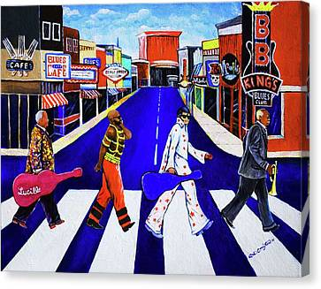 Kings Of Beale Canvas Print by Arthur Covington