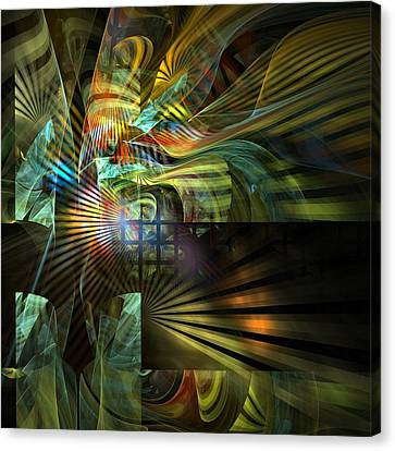 Canvas Print featuring the digital art Kings Ransom by NirvanaBlues