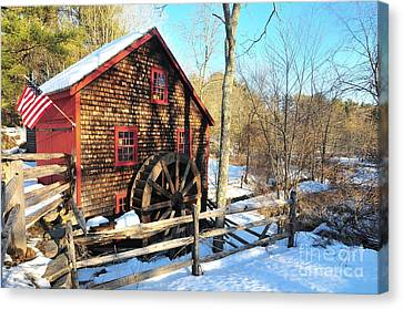 Canvas Print - Kingsbury Grist Mill  by Catherine Reusch Daley