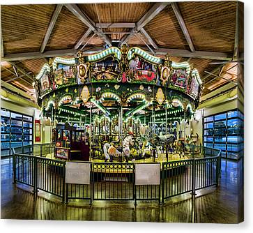 Kingsport Carousel Canvas Print by Heather Applegate