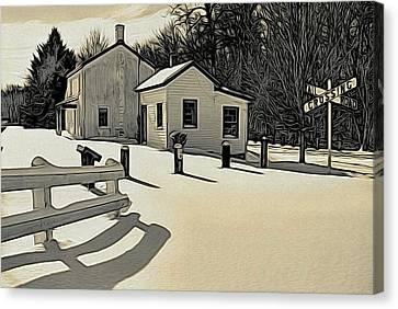 Canvas Print - Kingston Woodprint by Steven Richman