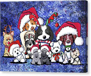 Kiniart Christmas Party Canvas Print by Kim Niles