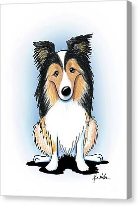 Shetland Sheepdog Canvas Print - Kiniart Sheltie by Kim Niles