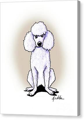 Kiniart White Poodle Canvas Print by Kim Niles