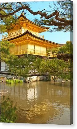 Kinkakuji Golden Pavilion Kyoto Canvas Print by Sebastian Musial