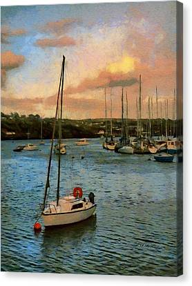 Kinsale Harbour Evening Canvas Print by Jeff Kolker