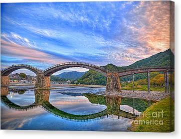 Kintai Bridge Japan Canvas Print by Rod Jellison