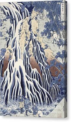1832 Canvas Print - Kirifuri Fall On Kurokami Mount by Hokusai