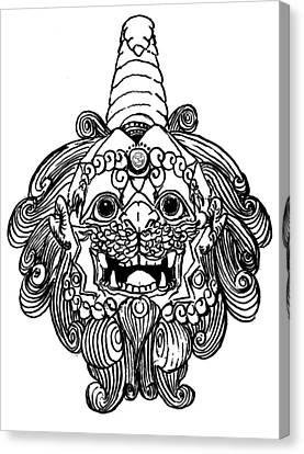 Kirin Head II Canvas Print by Shih Chang Yang