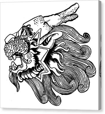 Kirin Head Canvas Print by Shih Chang Yang