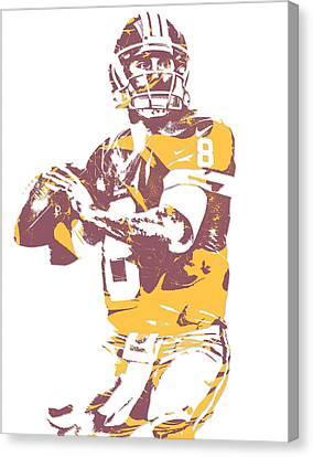 Kirk Cousins Washington Redskins Pixel Art 3 Canvas Print