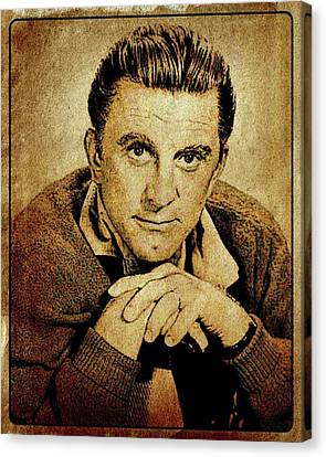 Kirk Douglas Hollywood Actor Canvas Print by Esoterica Art Agency