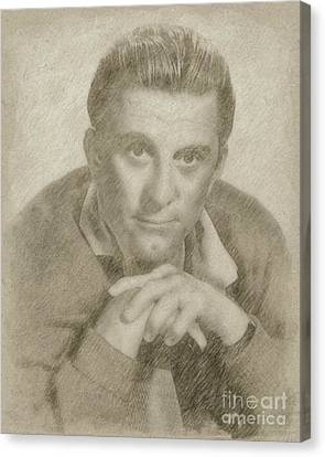 Kirk Douglas Hollywood Actor Canvas Print by Frank Falcon