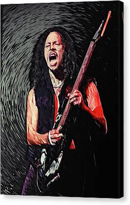 Cliff Lee Canvas Print - Kirk Hammett by Taylan Apukovska
