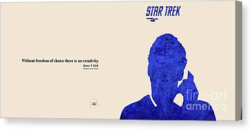 Kirk Quote - Star Trek Canvas Print by Pablo Franchi