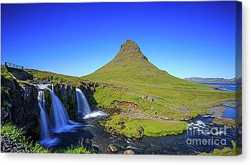 Canvas Print featuring the photograph Kirkjufell Iceland by Edward Fielding