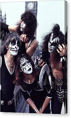 Kiss 1976 In London Canvas Print