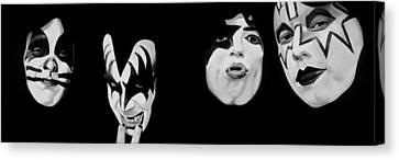 Demon Canvas Print - Kiss 78 by Brian Broadway