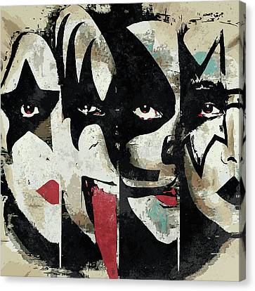 Monster Canvas Print - Kiss Art Print by Caio Caldas
