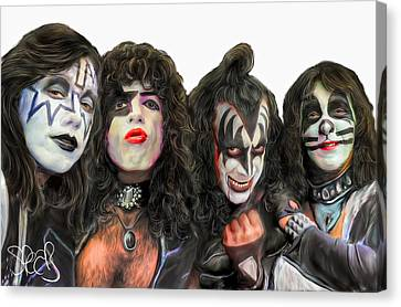 Kiss Canvas Print by Mark Spears