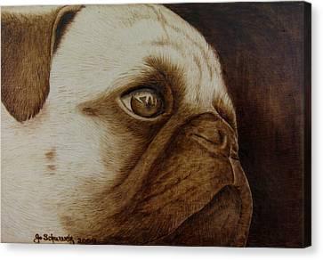 Kiss Me Canvas Print by Jo Schwartz