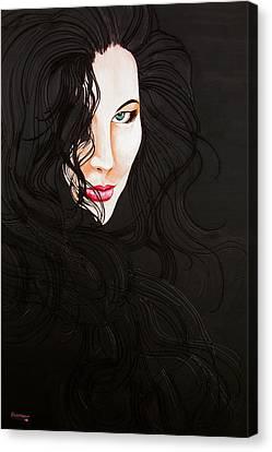 Kiss Me Canvas Print by Juan Alcantara