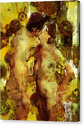 Kiss Me Canvas Print by Kurt Van Wagner