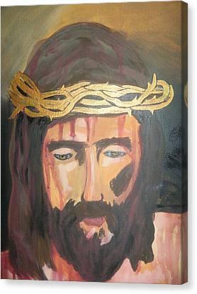 Kiss Of Judas Canvas Print by Demetria Kelley