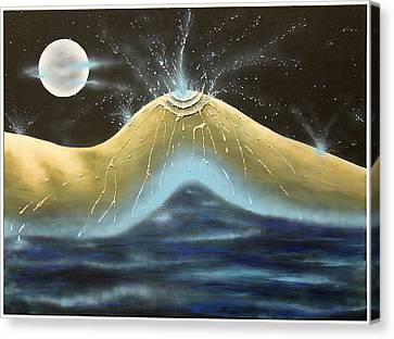 Kiss Of Rain Canvas Print by Monty Perales