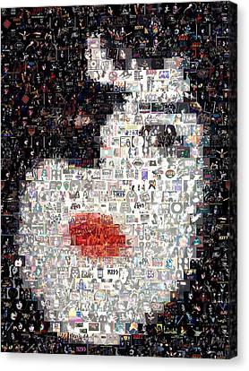 Kiss Paul Stanley Mosaic Canvas Print
