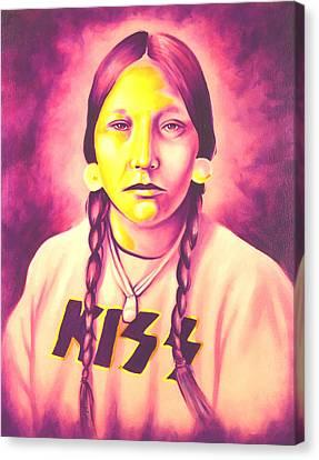 Kiss Canvas Print by Robert Martinez