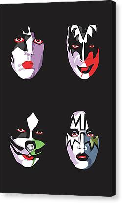 Kiss Canvas Print by Troy Arthur Graphics