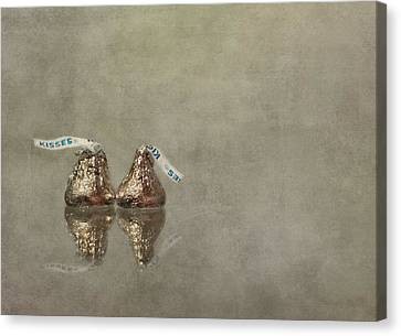 Chocolate Canvas Print - Kisses by Evelina Kremsdorf