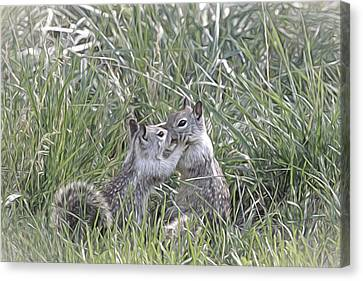 Canon 7d Canvas Print - Kisses In The Grass by Donna Kennedy