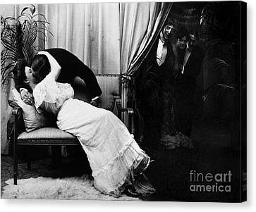 Kissing, C1900 Canvas Print by Granger
