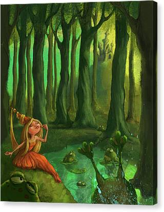 Castle Canvas Print - Kissing Frogs by Andy Catling