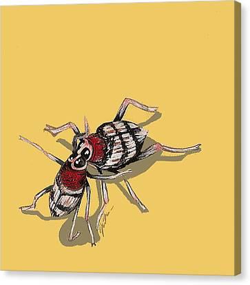 Kissing Weevils Canvas Print by Jude Labuszewski