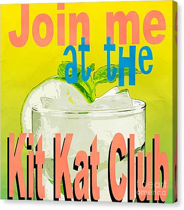 Kit Kat Club Square Canvas Print by Edward Fielding
