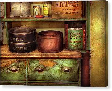 Kitchen - Food - The Cake Chest Canvas Print by Mike Savad