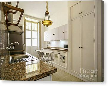 Canvas Print featuring the photograph Kitchen Apartment In The Heart Of Cadiz by Pablo Avanzini