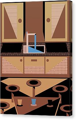 Kitchen Canvas Print by Benjamin Gottwald