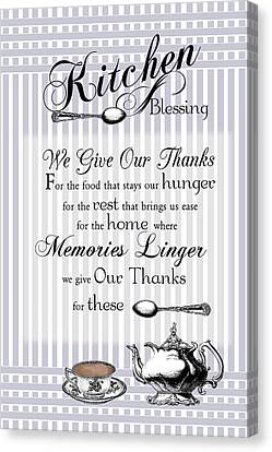Canvas Print featuring the digital art Kitchen Blessing by Robin-Lee Vieira